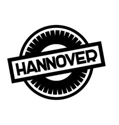 Hannover typographic stamp vector