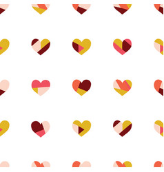 heart collage seamless pattern contemporary vector image