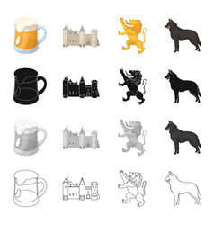 holiday attributes nation and other web icon in vector image