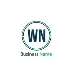 Initial letter wn logo template design vector