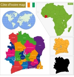 Ivory Coast map vector