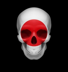 Japanese flag skull vector