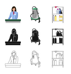 laundry and clean icon set vector image