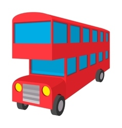 London double decker red bus icon cartoon style vector image