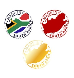 made in South Africa stamp vector image