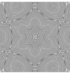 optical art abstract star seamless deco pattern vector image
