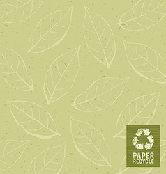 Paper recycle on leaf design background vector
