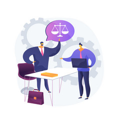 paralegal services abstract concept vector image