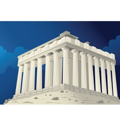 Parthenon in Athens Greece vector