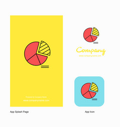 Pie chart company logo app icon and splash page vector