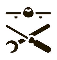 Plane instruments icon glyph vector