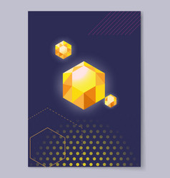 precious crystal polygon shape vector image