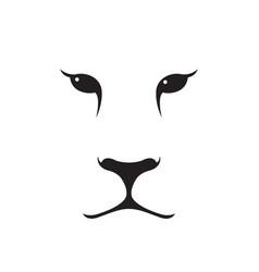 Puma muzzle silhouette wild animal emblem vector