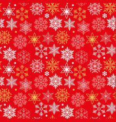 red seamless pattern with christmas symbols of vector image