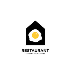 Restaurant logo simple line logo template vector
