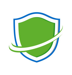 safe guard protection modern shield symbol logo vector image