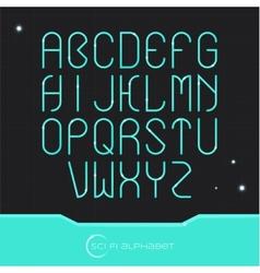 Sci Fi Alphabet vector