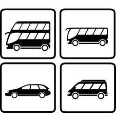 set passenger transport icon vector image
