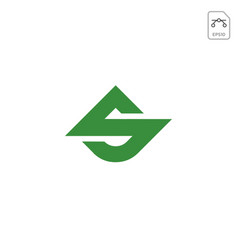 Shield secure safe with initial s logo design vector