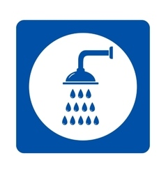 Shower head sign vector