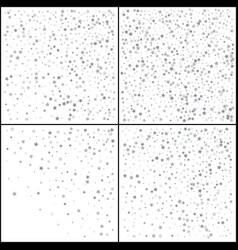 Silver stars confetti celebration falling silver vector
