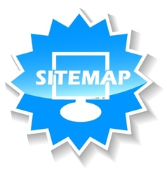 Sitemap blue icon vector