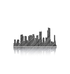 Sketches of buildings vector image