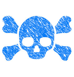 Skull crossbones grunge icon vector