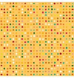 Small ditsy pattern with diamond shapes vector