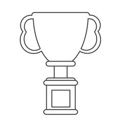 star trophy winner champion icon vector image