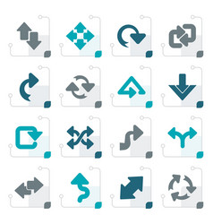 stylized different kind of arrows icons vector image