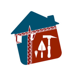 Symbol for construction business vector