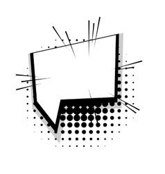 Template comic speech square line bubble vector