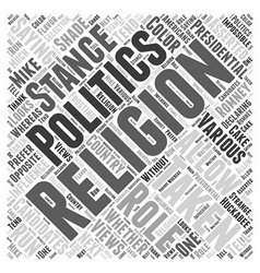 The role religion in presidential politics word vector