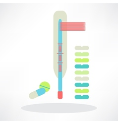 Thermometers pills and capsules vector