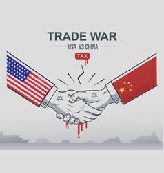 Trade war china vs united states trade and vector