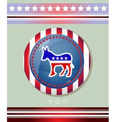 Usa Democratic Party Donkey Symbol Banner vector image