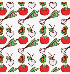 Vegetables background decoration design icon vector