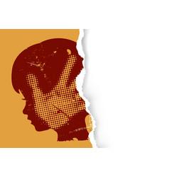 Violence against children paper background vector
