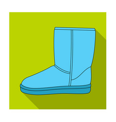 Warm winter blue ugg boots comfortable winter vector