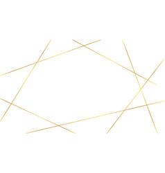 White background with golden luxury lines shapes vector