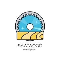 Saw wood logotype vector