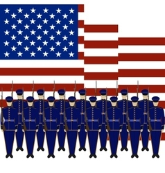 Soldiers of the guard of honour of the usa-1 vector