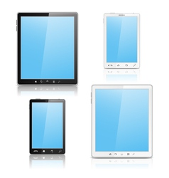 tablet pc and mobile phone vector image vector image