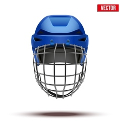 Classic blue Goalkeeper Ice Hockey Helmet isolated vector image vector image