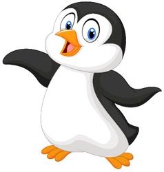 Cute cartoon penguin vector image vector image