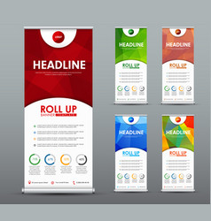 design roll up banner for business and vector image