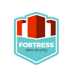 fortress logo concept vector image vector image