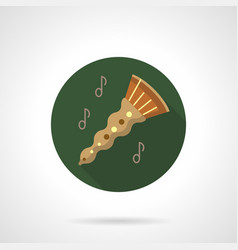 Oboe melody flat color round icon vector