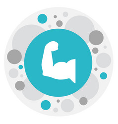 of active symbol on muscular vector image